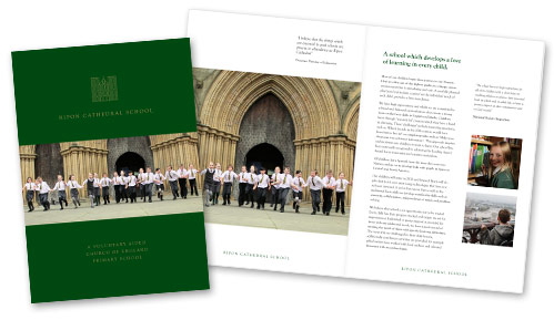 Cathedral School Prospectus Design