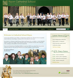 Cathedral School Website Design