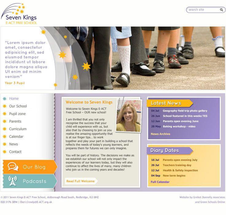 Aldborough School home page design