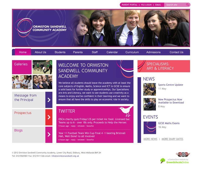 Orminston Academy website design