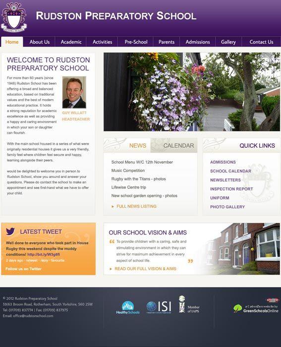 Rudston School website