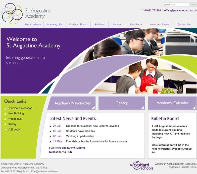 St Augustine's Academy website design