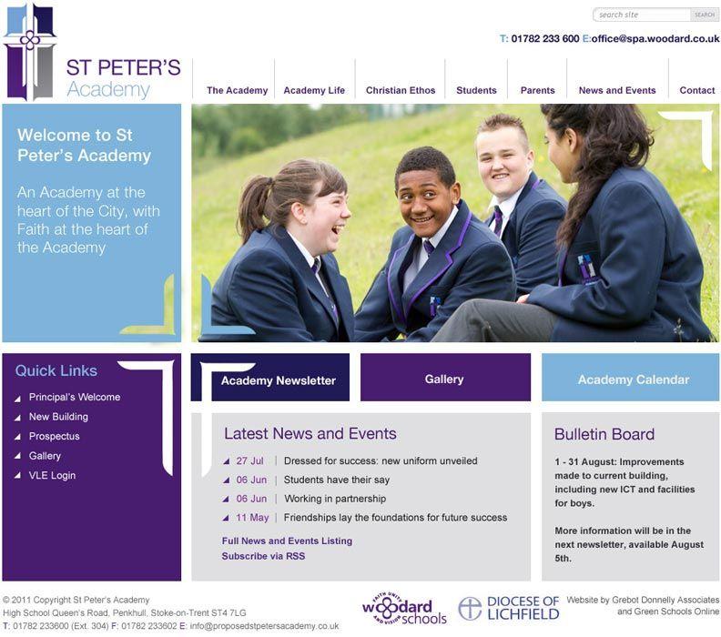 St Peter's Academy website