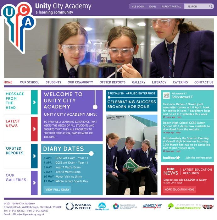 Examples of purple school website design for inspiration - The ...