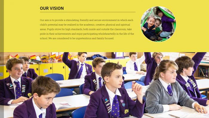 Hilden Grange Preparatory School Website Design