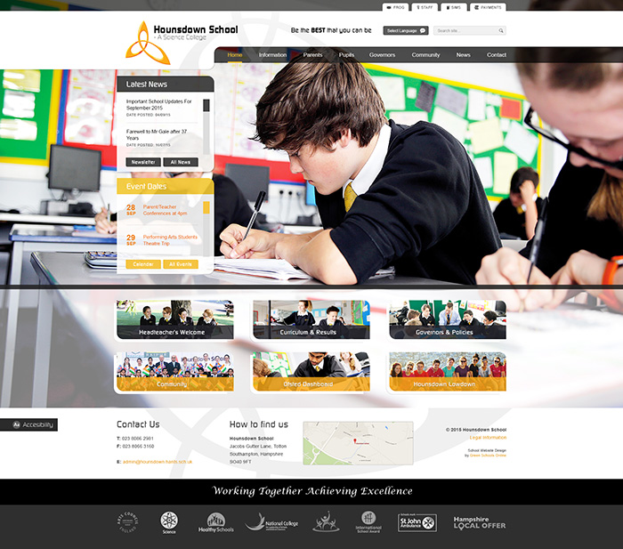 The Houndsdown Website Design