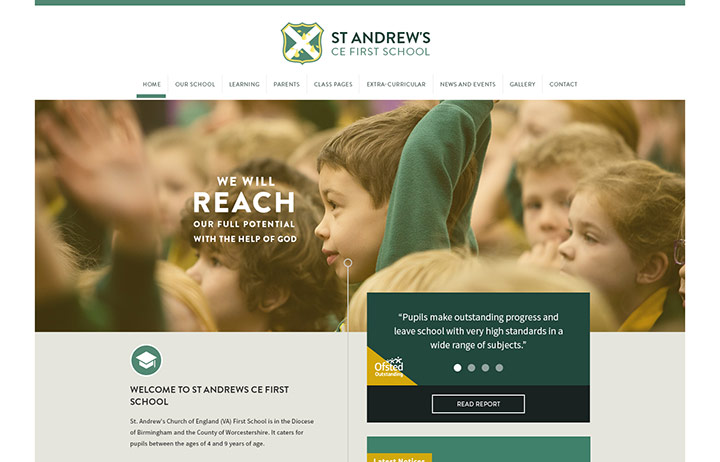 St Andrews First Website Design
