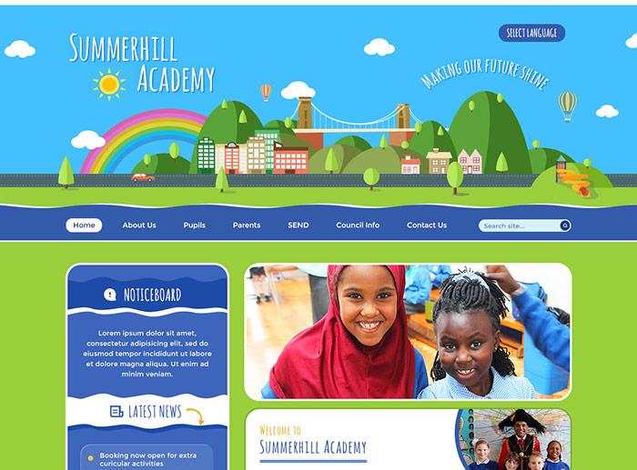 The Summer Hil Website Design