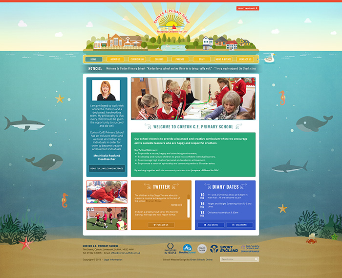 Corton illustration website design