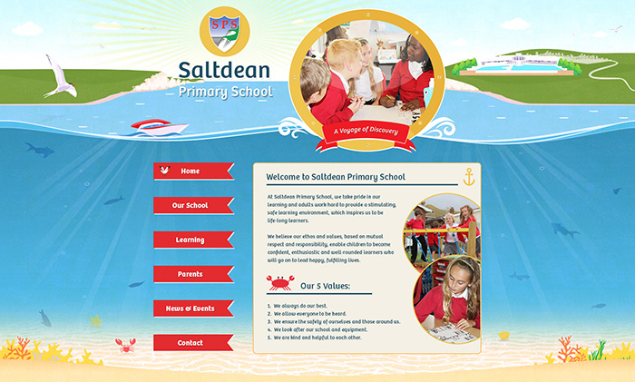 Saltdean illustration website design