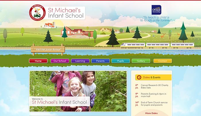 St Michaels illustration website design