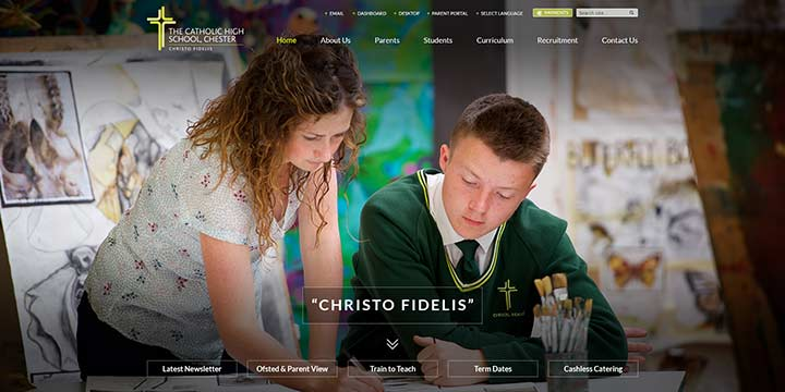 Catholic High School Website Design