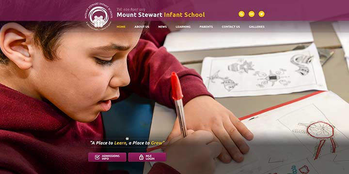 Mount Stewart Website Design