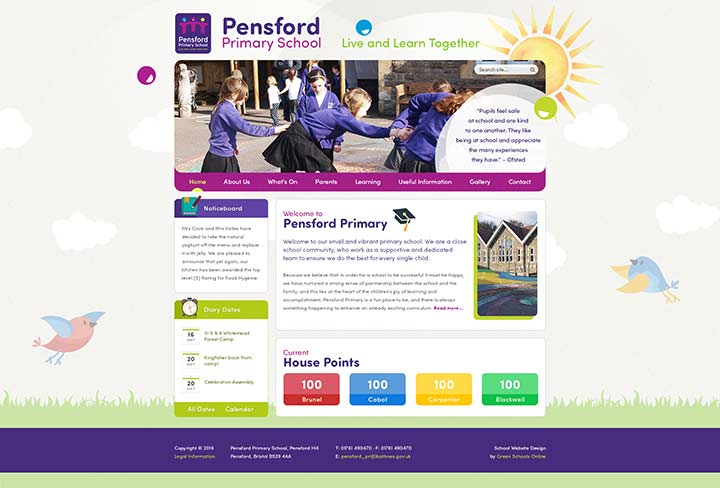 Pensford Primary Website Design