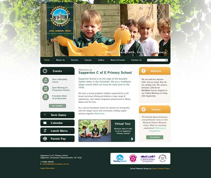 Sapperton Website Design
