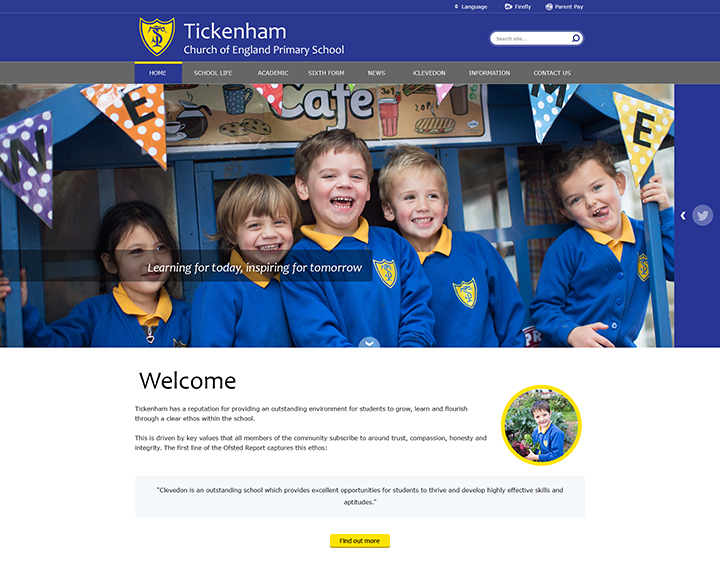 Tickenham Primary School Website Academy Trust MAT Website