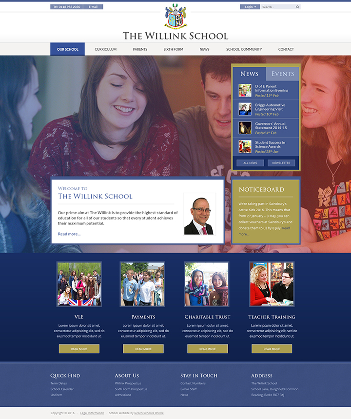 The Willink School Website Design